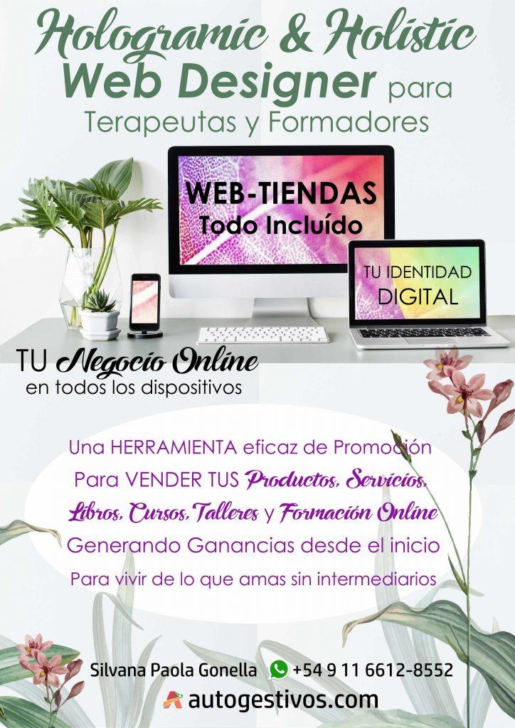 Hologramic & Holistic Web Designer para Terapeutas y Formadores
