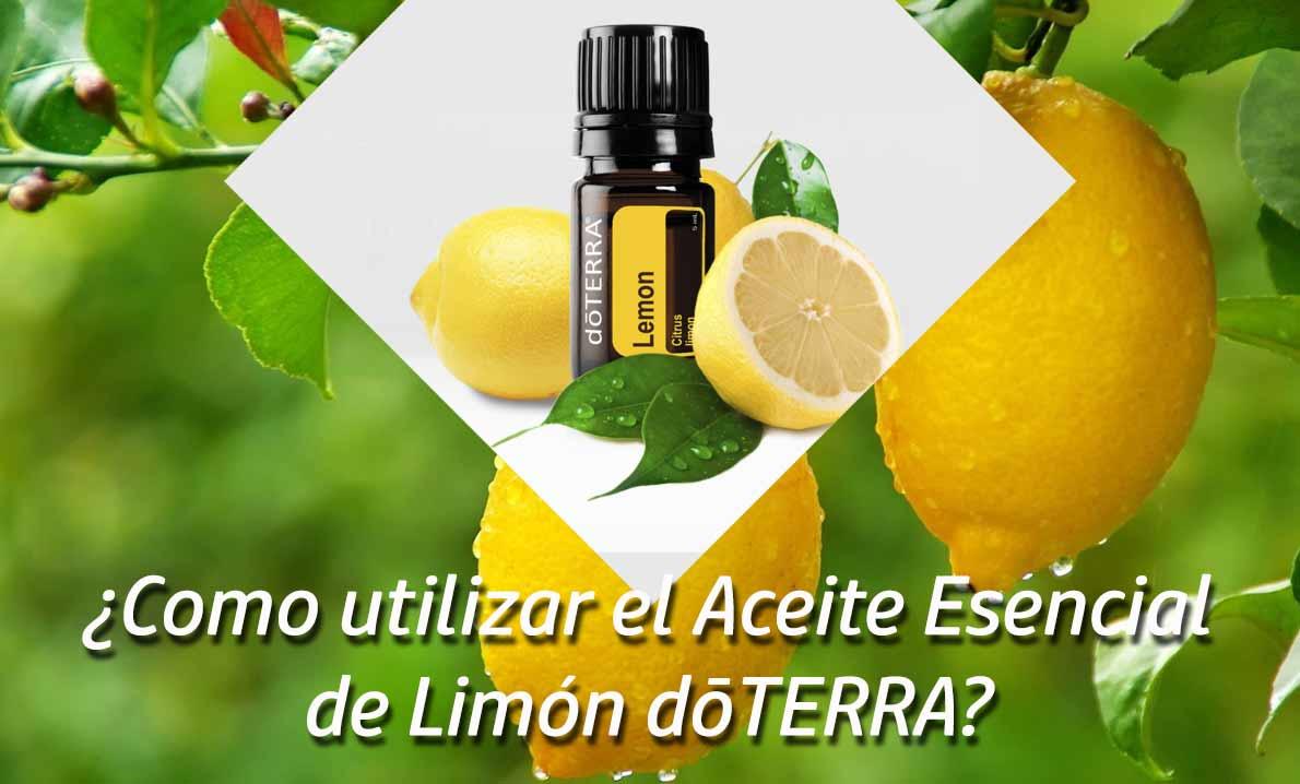 ¿Como utilizar el Aceite Esencial de Limón dōTERRA?