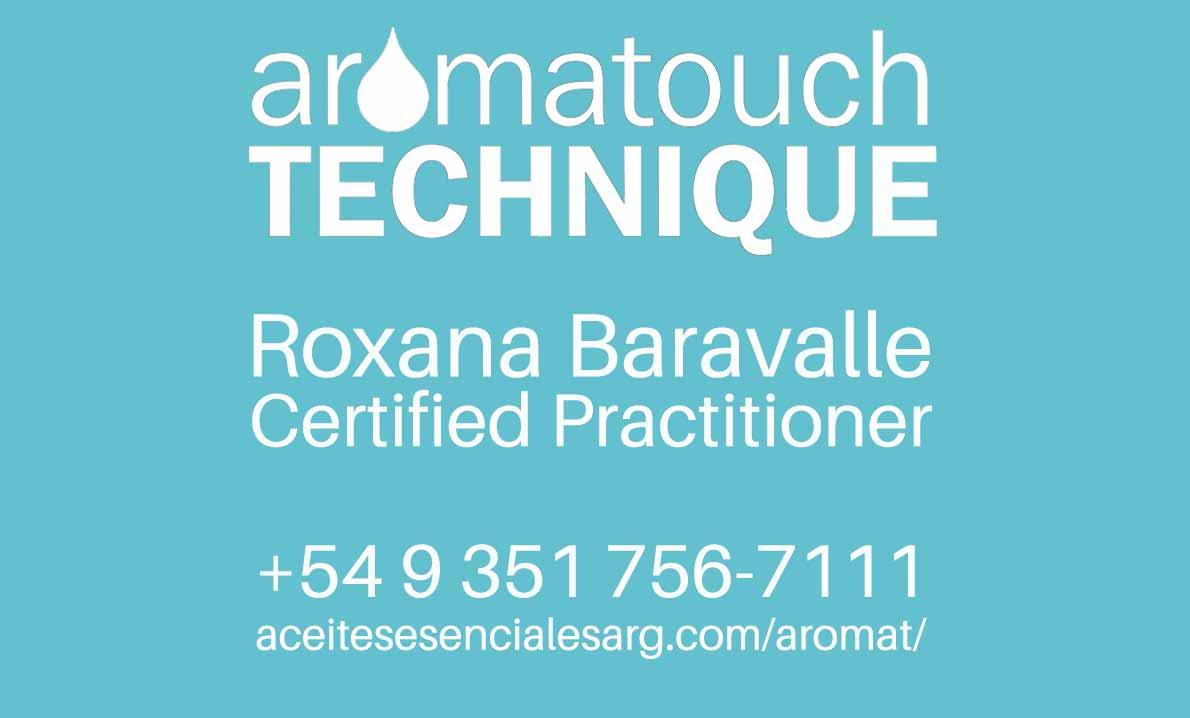 Técnica AromaTouch Patentada por dōTERRA®, por Roxana Baravalle