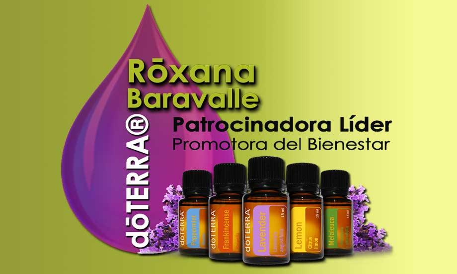 Roxana Baravalle. Patrocinio Multinivel de dōTERRA®, Aceites Esenciales Puros de Grado Terapéutico Certificado,