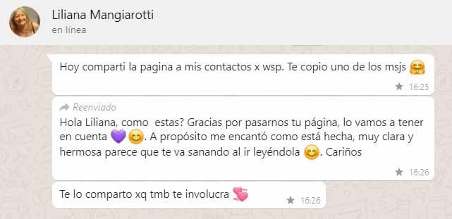 Comentario sobre la página de Liliana Mangiarotti