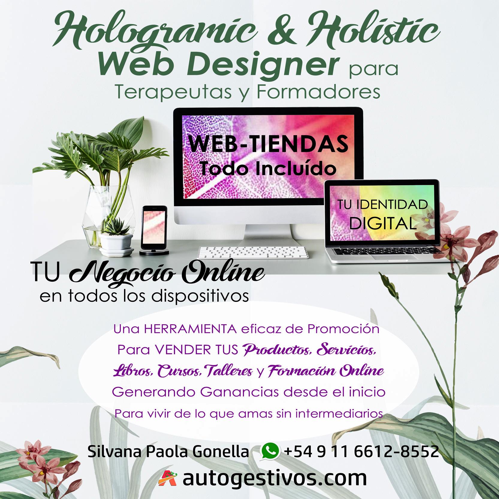 Hologramic & Holistic WEB DESIGN para Terapeutas, Formadores y Emprendedores
